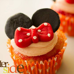 Butter Side Up- Minnie Mouse theme cupcake