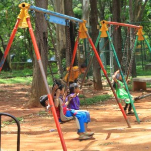 Jawahar Bal Bhavan, Cubbon Park, Bangalore is one the best parks in to enjoy with your children, toy train ride, aquarium, garden, slides, swings, play area