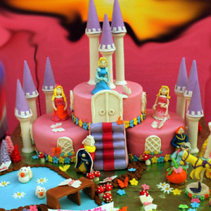 Happy Belly Bakes- Princess Frozen Castle theme Birthday cake