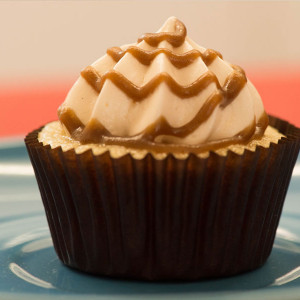 Bite Me Cupcakes- Butterscotch icing cupcake