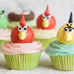 cupcakes, The Cupcake Company- Angry Birds Cupcake