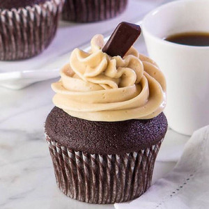cupcakes, Ms K Cupcakes- Chocolate Mocha icing cupcake