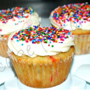 PnP Cakes- Icing sprinkles cupcake