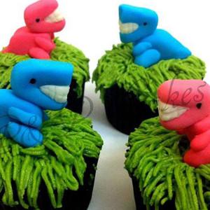 PnP Cakes- Dinosaur theme cupcake