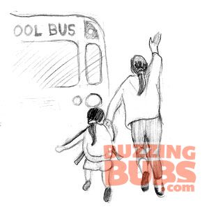 Crazy things, running for the bus, buzzingbubs