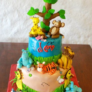 Happy Belly Bakes- Animal Jungle theme cake