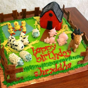 Happy Belly Bakes- Barnyard theme cake