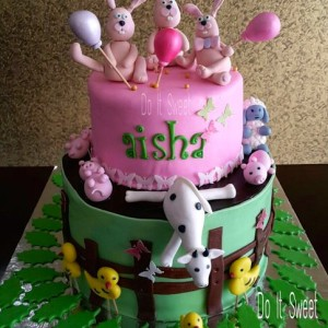 Do-It-Sweet-Bunny-Theme-Cake