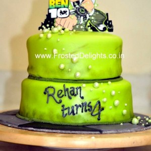 Frosted Delights- Ben 10 theme Birthday Cake
