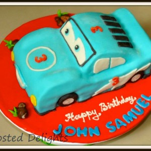 Frosted Delights- Cars theme Birthday Cake