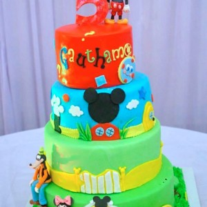 Frosted Delights- Disney theme Birthday Cake