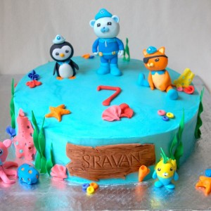 Frosted-Delights - In the night garden theme Birthday Cake