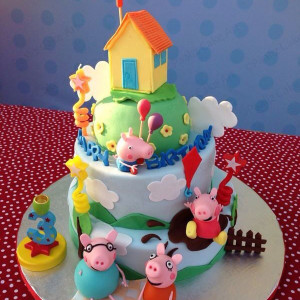 Paaliz Cake Art, BTM Layout, Peppa pig theme cake