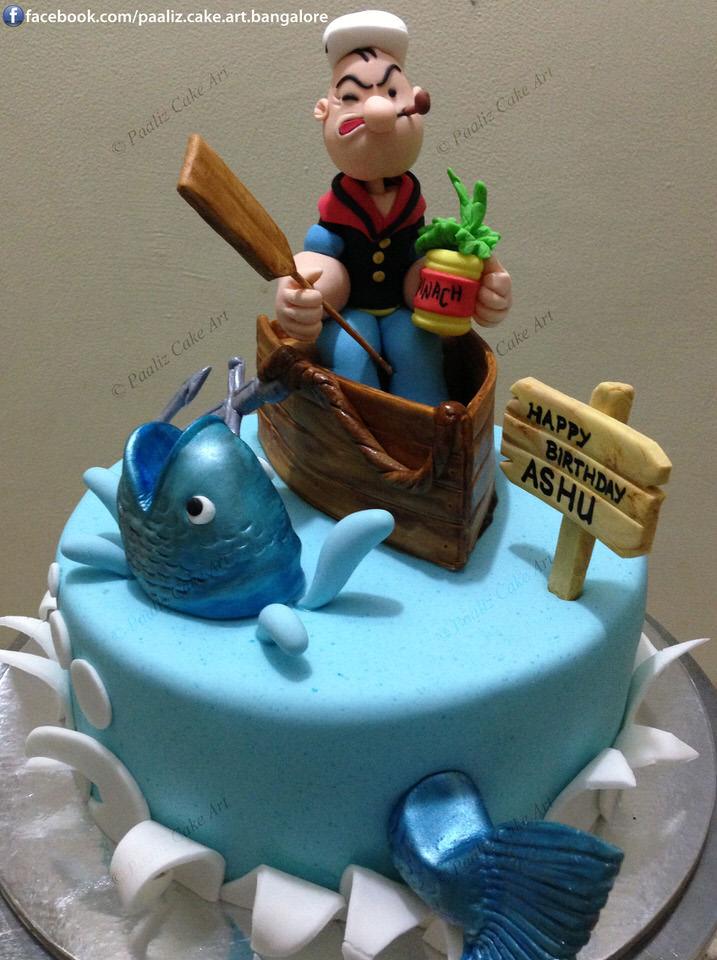 Popeye Birthday Cake