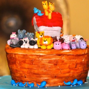 Sweet-Petal Cakes- Noah theme Birthday Cake