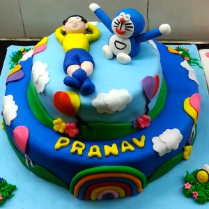 The Cake Lady- Doraemon theme Birthday Cake