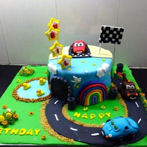 The Cake Lady- Lightning McQueen Birthday cake