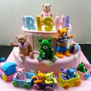 The Cake Lady- Teddy birthday cake