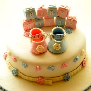 Slice of Heaven- Baby shower cake