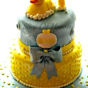 Slice of Heaven- Duck theme Birthday Cake