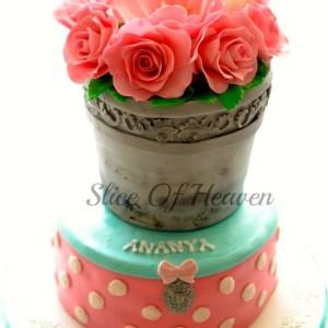 Slice of Heaven- Flower Bouquet Cake