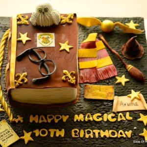 Slice of Heaven- Harry Potter theme Birthday cake