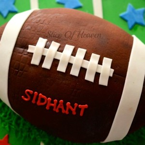 Slice of Heaven- Sports theme Birthday Cake