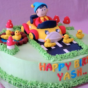 Sweet Whisk-Noddy theme Birthday Cake