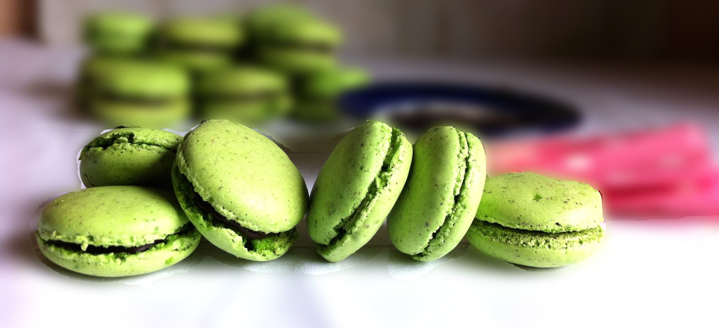Make these shiny, beautiful pistachio macarons Cover Image