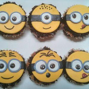 Battered Up- Minion theme cupcake