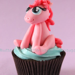 Buttercups- Pony cupcake