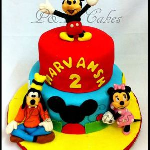 PnP Cakes- Mickey Mouse theme birthday cake cupcake