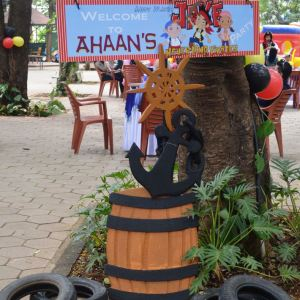 HourGlass, kids birthday party planners in bangalore, Pirate Theme Props