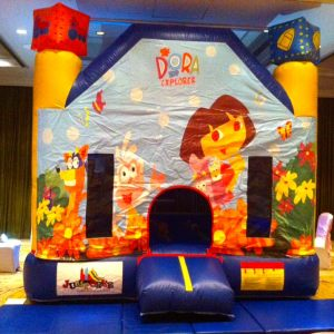 kids birthday party planners in bangalore, Jumporee Dora theme bouncy