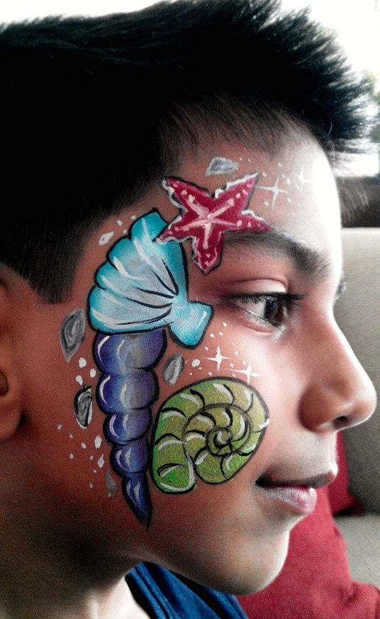 Luau Face Painting Ideas
