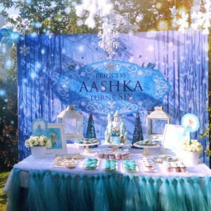 kids birthday party planners in bangalore, Whole Nine Yards Frozen Treat Table