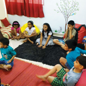 Hangout- Story telling session for children library book reading