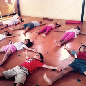 Puraw Vida Yoga relaxing posture