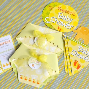 Templetree Baby Shower Invites, Buntings and Decoration