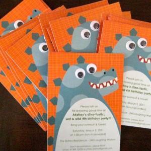 Templetree Dinosaurus Themed Invite