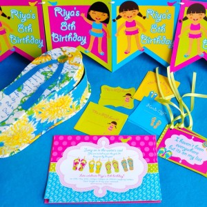 Templetree Pool Party Personalised Invites, Tags and Cards