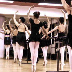 The Lewis Foundation Ballet Class in progress