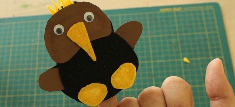 DIY Kiwi Finger Puppet Cover Image