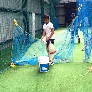 Just Cricket Academy collecting the Balls
