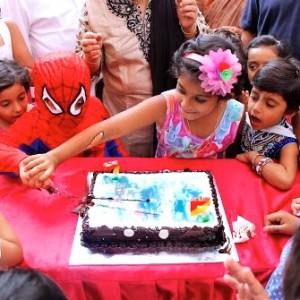 Wacky House Birthday Cake Cutting