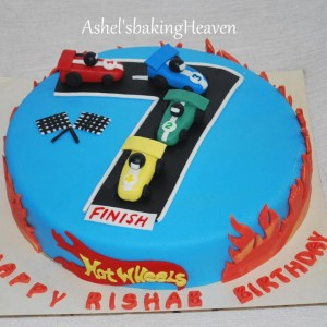 Ashels Baking Heaven Hotwheel Cars Cake