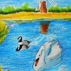 Bangalore Lalit Kala Kshetra Oil Pastel Art