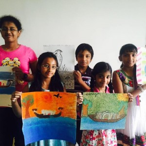 Chhavi Art Classes Students with Art Work