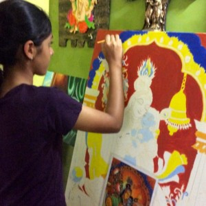 Colour Crafts Tanjore Painting Class