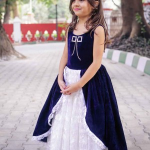 Flutterbows-Kids-Blue and White Gown